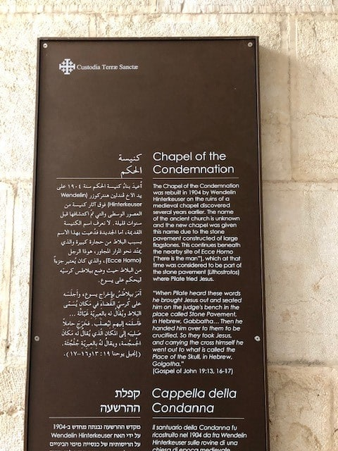 Chapel of the Condemnation
