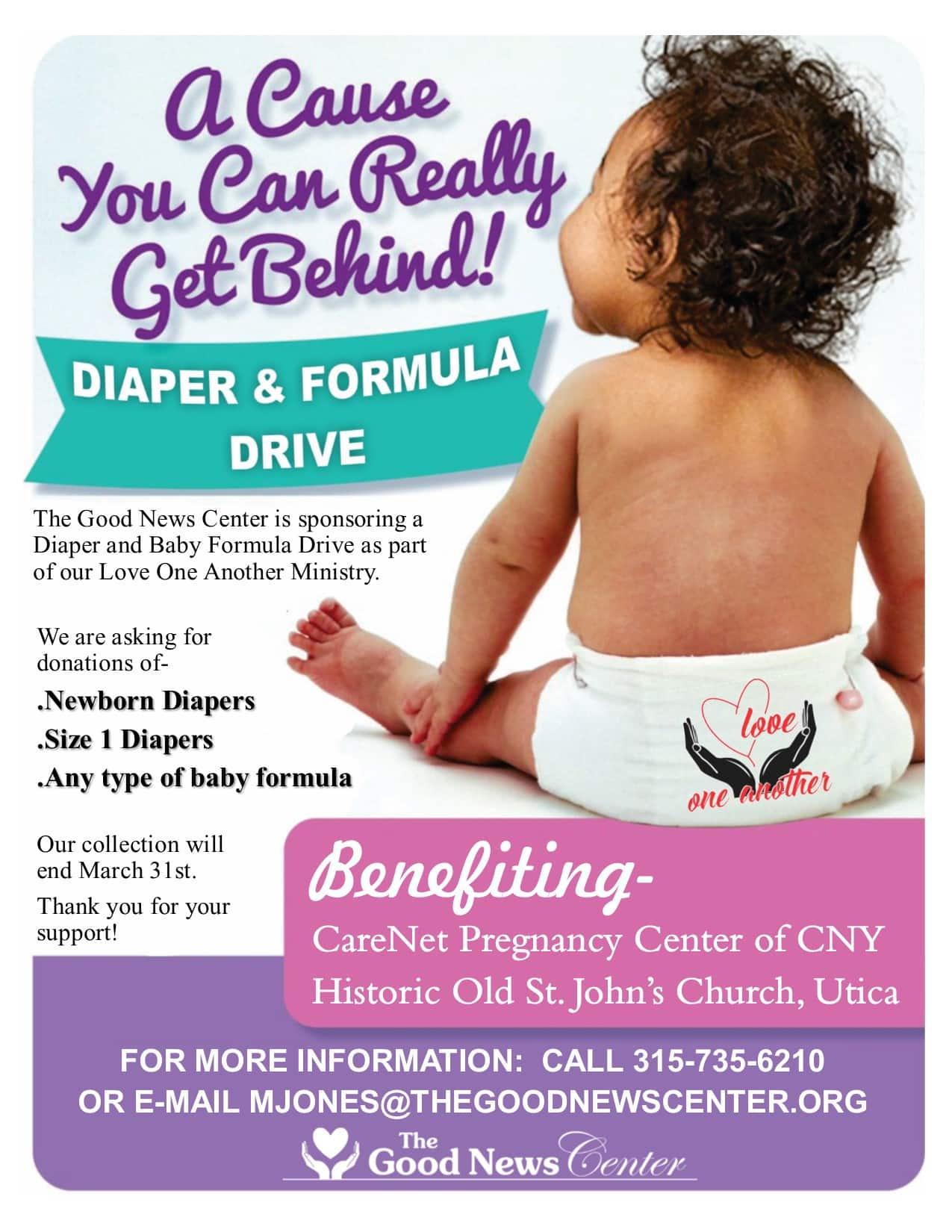 Diaper and Formula Drive