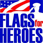 Flags for Heroes logo in color